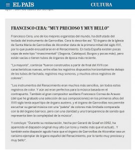 Opinión de Francesco Cera