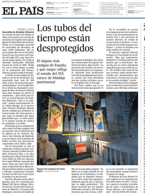 EL ÓRGANO, EN EL PERIÓDICO NACIONAL DE MAYOR DIFUSIÓN